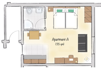 Grundriss Apartment A
